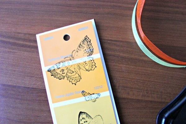 Paint chips bookmark DIY