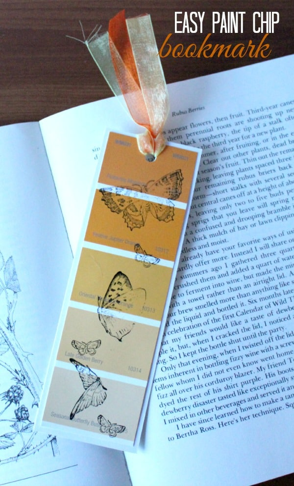 Paint Chip Bookmark DIY