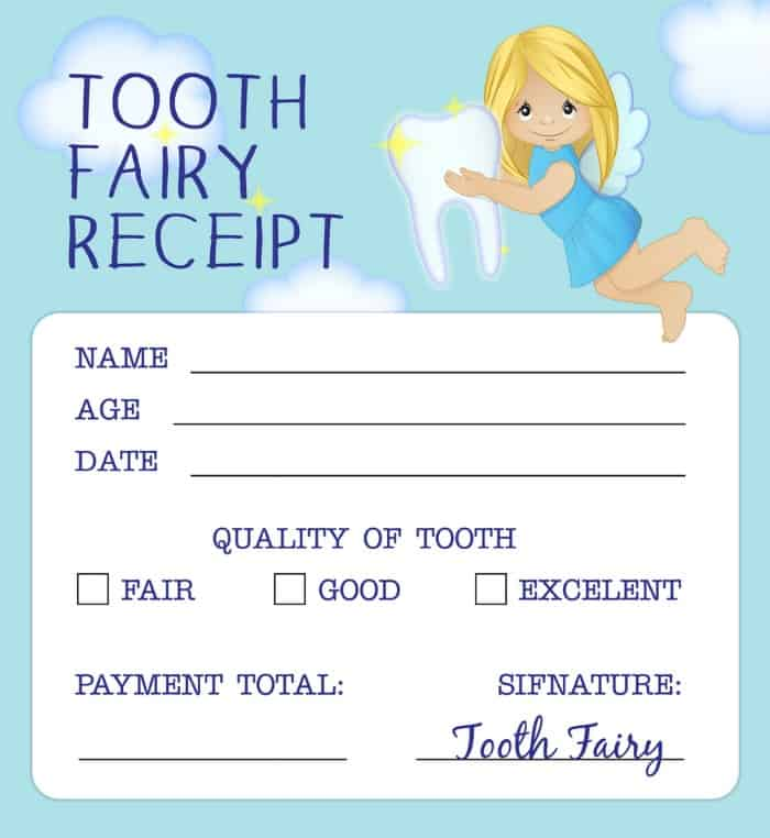 picture about Printable Tooth Fairy Receipt referred to as Teeth Fairy Poem for the Very first Teeth With Enamel Fairy Receipt