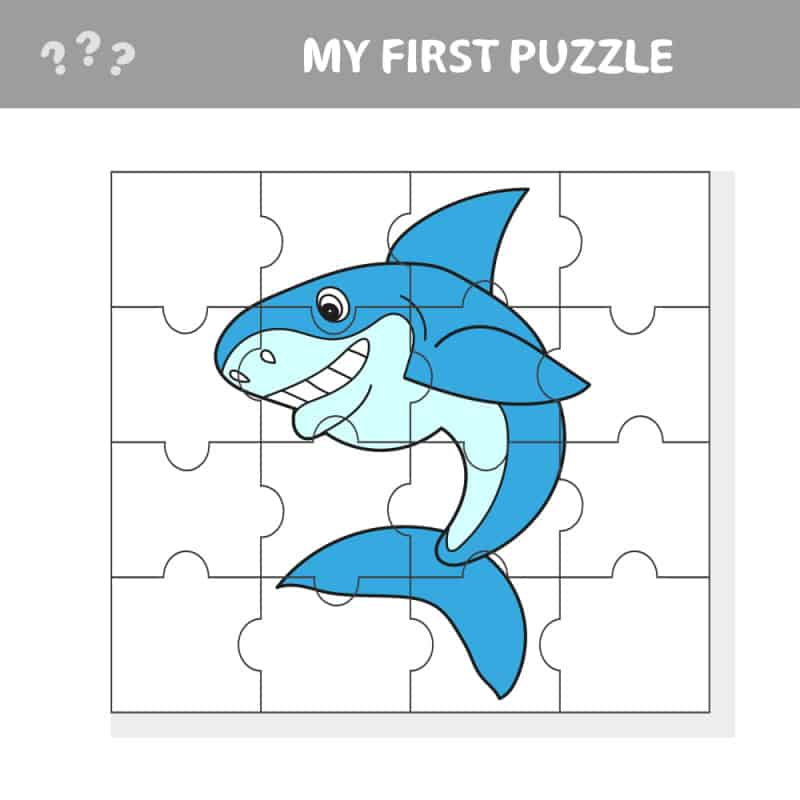 Want shark crafts for kindergarten and preschool? Check out this fun DIY shark puzzle and make one today for your child.