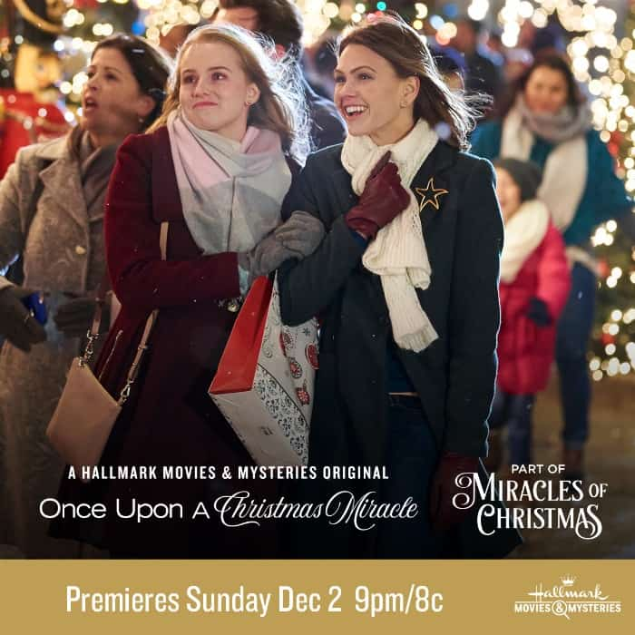 "Hallmark Movies & Mysteries ""Once Upon a Christmas Miracle"" Premiering this Sunday, Dec.2nd at 9pm/8c! #MiraclesofChristmas"