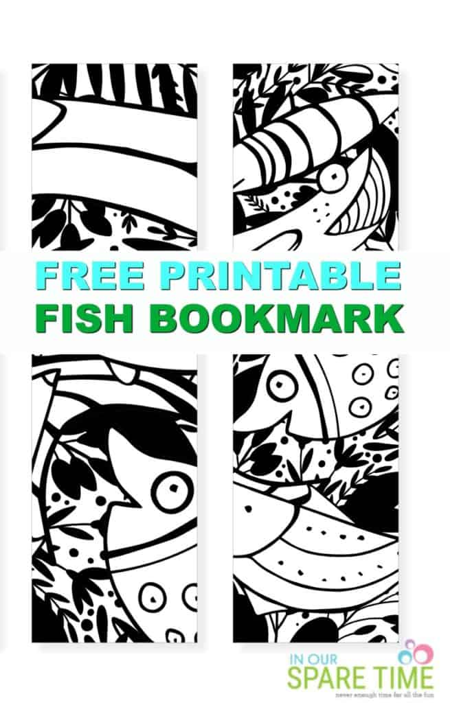image relating to Printable Coloring Bookmarks named Absolutely free Printable Coloring Bookmarks of Fish for Small children - Inside Our