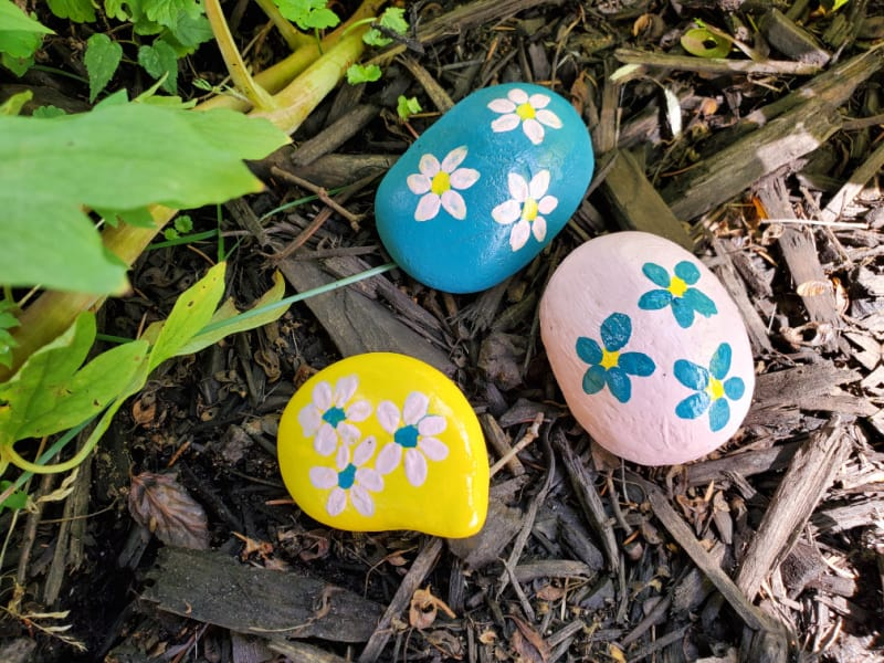 Rock Painting Flowers for Kids