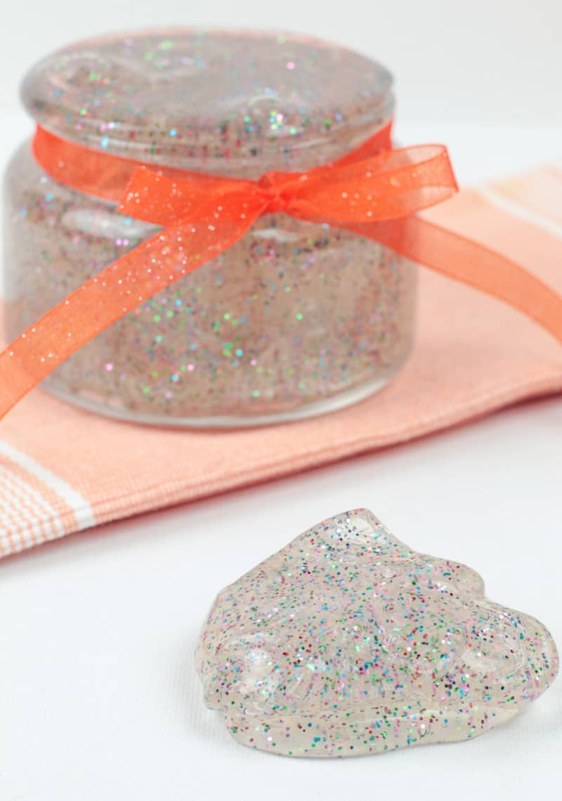 Looking for a fun project to make with the kids? This clear glitter slime is not only fun to make but fun to play with. Make it today.