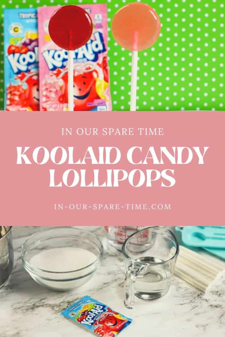 Check out these fun Koolaid Hard Candy Lollipops! Try my easy Koolaid candy recipe and make homemade lollipops for the kids.