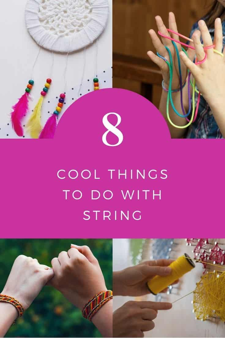 Check out these cool things to do with string. If your kids are bored today, check out these cool things to make with string to keep them busy.